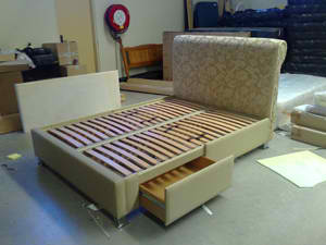 Electric Adjustable Beds Specialist, Adjustable Electric 5A-Darwin-Upholstered-Drawer-Bed-Special-Head-Board Headboards