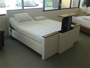 Electric Adjustable Beds Specialist, Adjustable Electric 19A-Noosa-king-size-with-TV-Lift-up 19A Noosa king size with TV Lift up Custom Made Posture Slat Gas Lift Designs