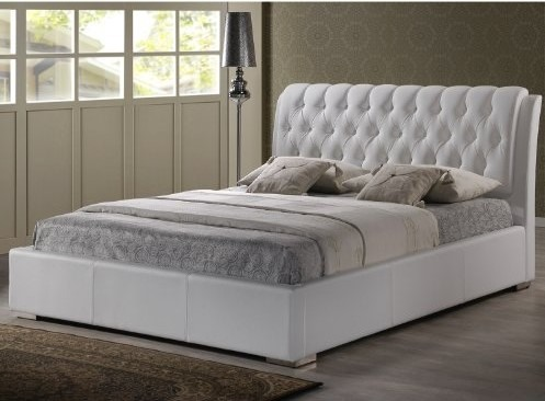 Electric Adjustable Beds Specialist, Adjustable Electric baxton-studio-bianca-modern-bed-with-tufted-headboard-full-white-1-2 Headboards