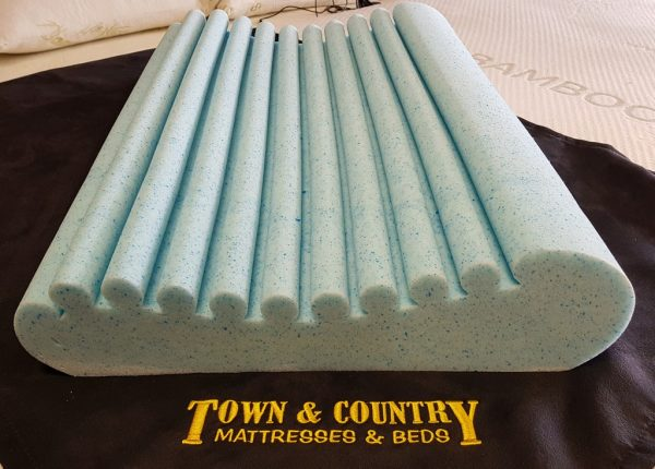 Electric Adjustable Beds Specialist, Adjustable Electric pillow-2 Dunlop Contoured Fusion Gel Memory Foam Pillows